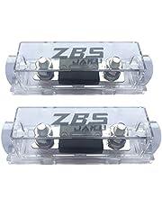 ZBSJAKU 0/2/4/8 Gauge AWG 150 Amp ANL Fuse Holder Wire Inline Fuse for Car Audio (150A) (2 Packs)