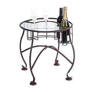 Hierro/lateral con mesa de café superior - blanco