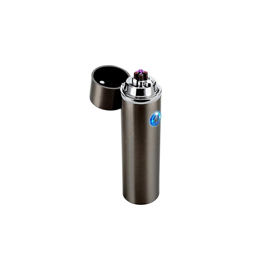 Dibikou Electric Rechargeable USB Dual Arc Cigarette Lighter Windproof Flameless Electronic Plasma Lighter