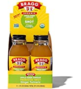 Bragg Organic Apple Cider Vinegar Shot with Ginger Turmeric – 2 Oz ACV Shot – USDA Certified Orga...