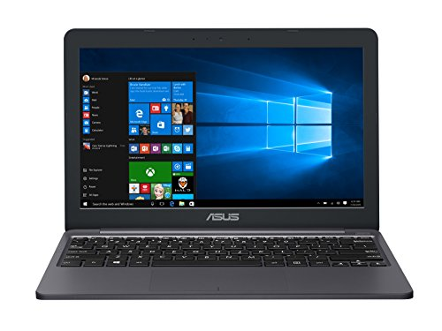 "ASUS VivoBook E203NA-YS02 11.6"" Featherweight design Laptop, Intel Dual-Core Celeron N3350 2.4GHz processor, 4GB DDR3 RAM, 64GB EMMC Storage, App based Windows 10 S"