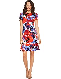 Womens Fitted T-Shirt Dress With Flounce