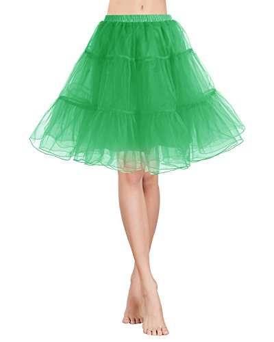 Gardenwed Jupon en Tulle Court Style annes 50 Rockabilly rtro Vintage Green