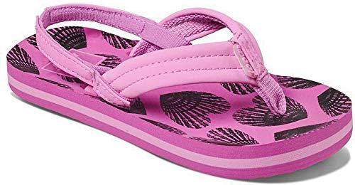 Reef Girls' Little AHI Sandal, Heart Shells, 7-8 Medium US -