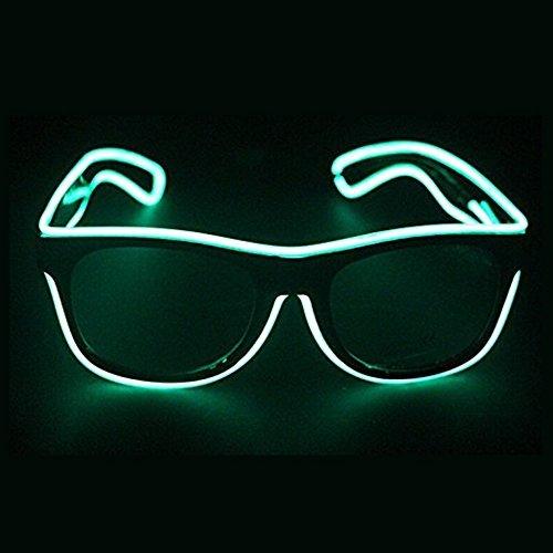Bandzqq EL Wire Glasses Led DJ Bright Light Safety Light Up Multi-color Shutter Frame Costumes LED Flashing Glasses (Cool Rave Halloween Costumes)