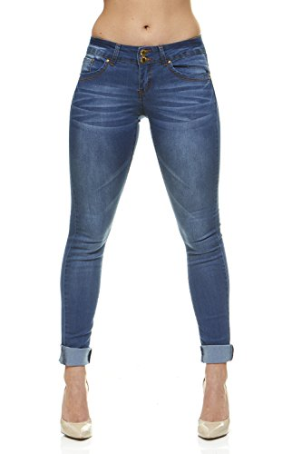 Cover Girl Women's Five Pocket Classic Blue Wash Slim Fit Skinny, 11/12 ()
