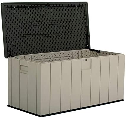 屋外収納 ロッカー 屋外のストレージボックス150ガロン全天候防水屋外ロッカーパティオ芝生の庭 デッキボックス (色 : グレー, Size : 150.7x71.9x69.1cm)
