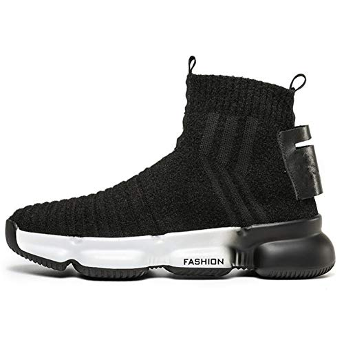 - XUEXUE Lovers Shoes Knit/PU Spring & Summer Comfort Boots Walking Shoes,Men's Lightweight High-Top Sneakers,Women's Personality,Mid-Calf Boots,Running Shoe,A,39