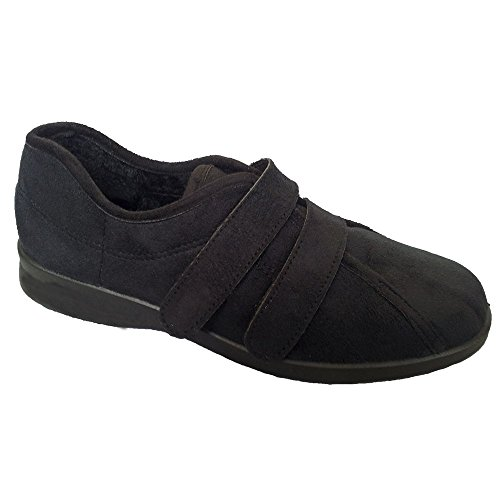 Db Shoes Black ladies velcro strap House shoe. UK 6 Black bQL5A