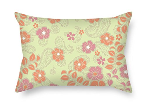 MaSoyy Flower Throw Cushion Covers 12 X 20 Inches / 30 By 50 Cm Gift Or Decor For Son,chair,home Office,home Theater,club,divan - Twin Sides