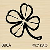 Four Leaf Clover Rubber Stamp by DRS Designs