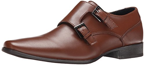 Calvin Klein Men's Bayard Leather Slip-On Loafer, British Tan, 12 M US by Calvin Klein