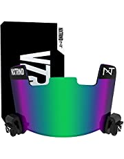 Nxtrnd VZR1 Tinted Football Visor – Professional Football Helmet Visor, Shield Fits Youth Football Helmets & Adult Football Helmets, Includes Visor Clips, Decal Pack, & Cleaning Cloth