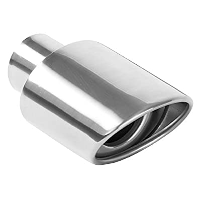 Magnaflow 35158 Stainless Steel Rolled-Oval-Angle Cut Double Wall Exhaust Tip