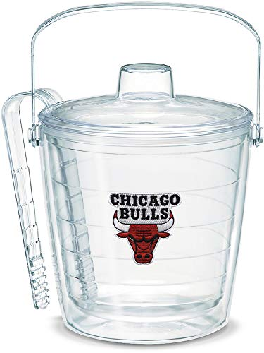 Tervis 1052254 NBA Chicago Bulls Primary Logo Ice Bucket with Emblem and Clear Lid 87oz Ice Bucket, Clear