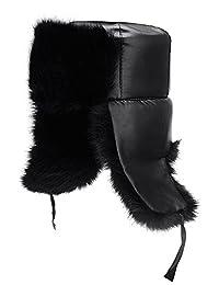 Roffatide Faux Fur Aviator Hat for Men Cotton Warm Winter Hats