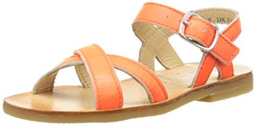 Start Rite Mädchen Nice Ii Sandalen Orange - Orange (Neon Orange)