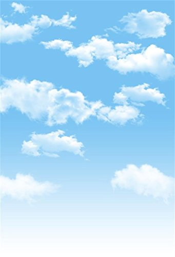 (AOFOTO 5x7ft Blue Sky Backdrops White Clouds Photography Background Photo Studio Props Fall Party Decoration Summer Baby Infant Kid Newborn Toddler Girl Boy Adult Artistic Portrait Vinyl Wallpaper)