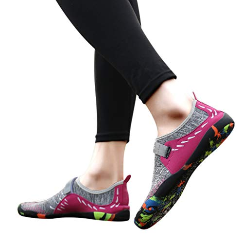 aaa461aff6be8 Fainosmny Womens Shoes Summer Water Shoes Flat Sports Shoes Casual Pool  Beach Shoes Slip-On Swim Diving Shoes Sneakers Pink