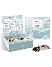 Tea Forte Winter Teas Variety Gift Box, Single Steeps Loose Tea Sampler with 28 Assorted Black Tea, Chai Tea, Herbal Tea, Green Tea and White Tea