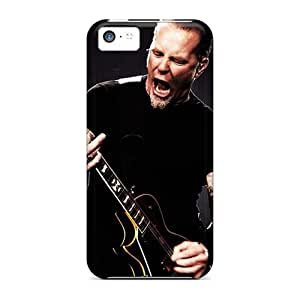 Shockproof Cell-phone Hard Covers For Iphone 5c With Allow Personal Design Colorful Metallica Pattern DannyLCHEUNG