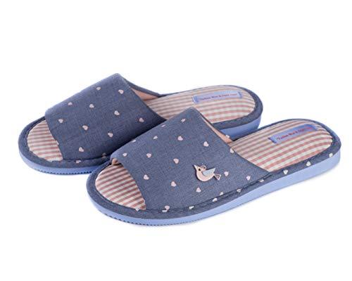 Open Toe Slide Slippers for Women Cute Women`s Slip-on House Slippers by Twins (9-9.5, Early Bird) ()