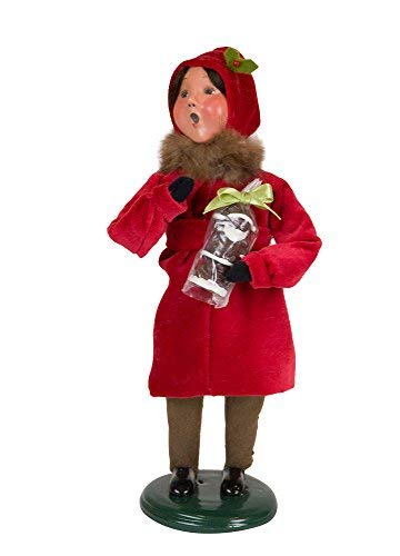 Byers' Choice Victorian Family Girl Caroler Figurine #113G from The Specialty Families - Choice Byers Girl