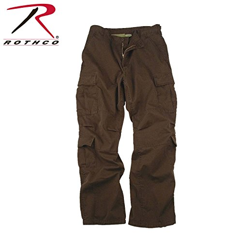 (Rothco Vintage Paratrooper Fatigues, Brown, Large)