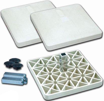 Champro Pro Style Rubber Base Set (White) ()