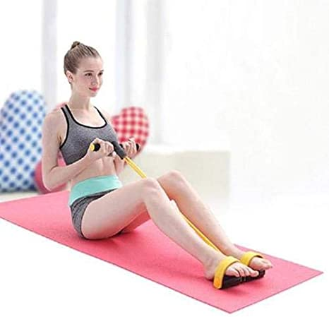 FILWO Fitness-Sit-up-Trainingsger/ät Fitness-Zugseil Fitnessband Elastisches Zugseil Multifunktions-Zugseilzieher Bauchbein Oberschenkel Arme Muskeln Bauch