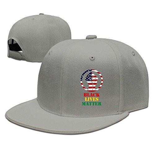 maneg-black-lives-matter-unisex-fashion-cool-adjustable-snapback-baseball-cap-hat-one-size-ash