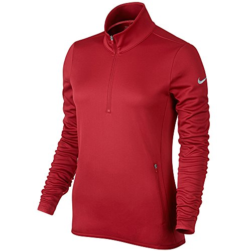 Nike Thermal 1/2 Zip - Camiseta de manga larga para mujer Rojo / Gris Oscuro