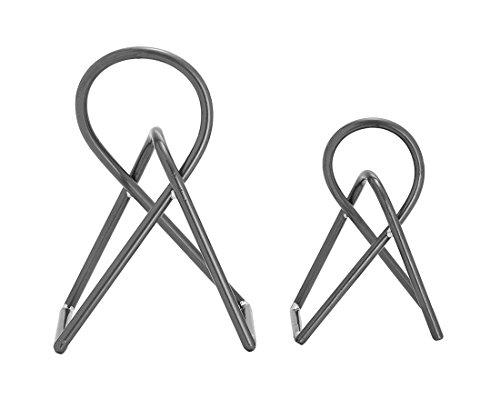 (Zeckos 2 Piece Graphite Grey Finish Abstract Knot Metal Sculpture Set)