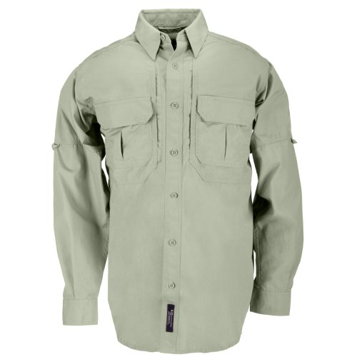 5.11 Tactical Tactical Long-Sleeve Shirt, Sage, Large by 5.11