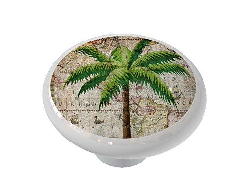 (Classic Palm Tree Ceramic Drawer Knob )