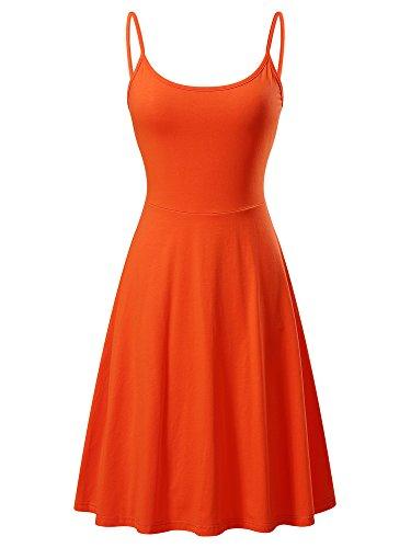 orange skater dress - 3