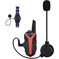 Helmet Headset Motorcycle Communication Intercome for Riding and Skiing 3KM Range Support Multiple Riders Walkie-Talkie with PTT Wireless Control 16 Channels Waterproof