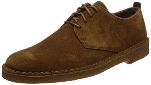 Clarks Originals Desert London, Derby Homme, Bordeaux Cola