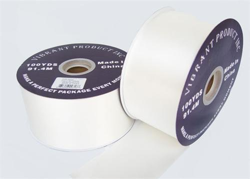 #40 White Flora Satin Ribbon 2.75