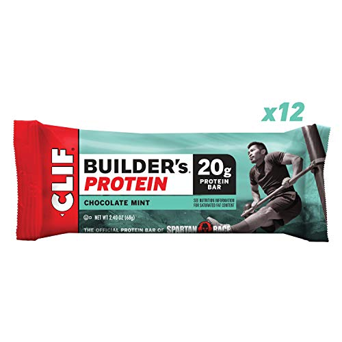 (CLIF BUILDER'S - Protein Bar - Chocolate Mint - (2.4 Ounce Non-GMO Bar, 12 Count) )