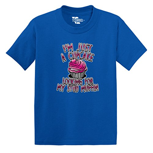 Tcombo I'm Just A Cup Cake Looking For My Stud Muffin Toddler/Infant T-shirt (3T, Royal Blue)