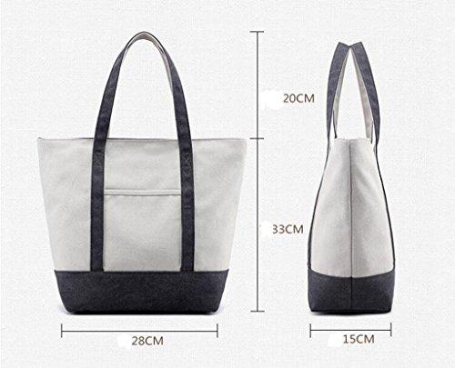 Sucastle sacchetti di svago sacchetto di modo del sacchetto di spalla di tela retro borsa bag Sucastle Colore:grigio Dimensione:33x28x15cm