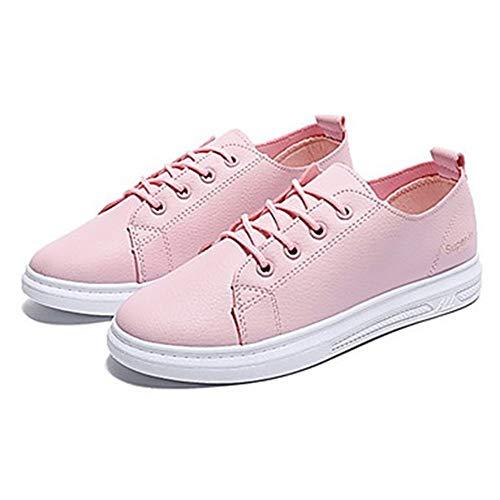 EU39 CN39 Femme Pink Printemps Microfibre UK6 De Talon Synthétique US8 Basket TTSHOES Plat Confort Eté Bleu Noir Chaussures PU Bleu Jaune RdwnfU