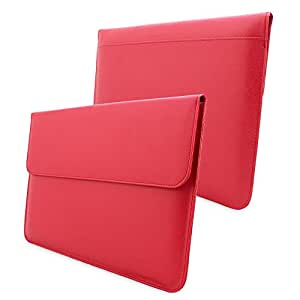 Snugg Leather Sleeve for Apple Macbook Air 13 and Macbook Pro 13 with Retina - Red