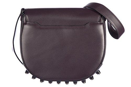 Alexander Wang sac femme bandoulière en cuir studs obsidian vintage violet