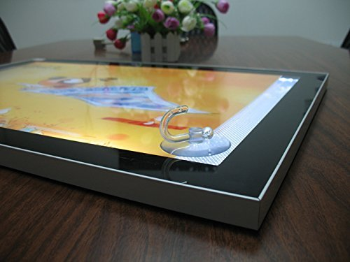 Single Sided Aluminium Frames Magnetic Abosrb LED Light Boxes,led Lighting Panel (A2) by displayonacrylic