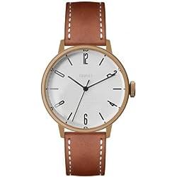 Tsovet Men's Rose/Champagne Case, Brown Leather Band Watch SVT-CN38 (CN770111-40)