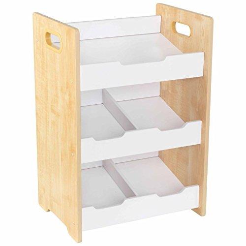 chambre enfant meuble de rangement KidKraft 15766 Etag/ère inclin/ée en bois