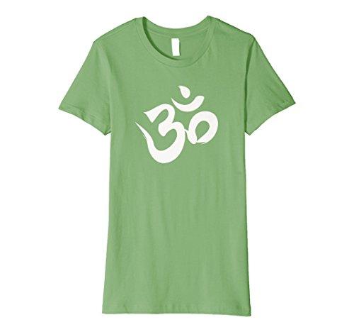 Womens Hindu Om Shirt Hinduism Tee Diwali T-Shirt Om Yoga TShirt Large Grass by Hindu Om Tshirt Shop