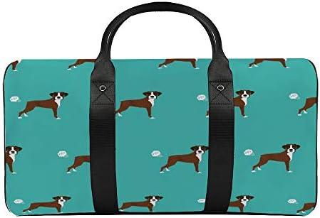 ボクサーおなら1 旅行バッグナイロンハンドバッグ大容量軽量多機能荷物ポーチフィットネスバッグユニセックス旅行ビジネス通勤旅行スーツケースポーチ収納バッグ